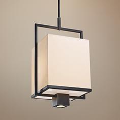 """Sonneman Metro Black 14 1/2"""" Wide Modern Pendant Light"""