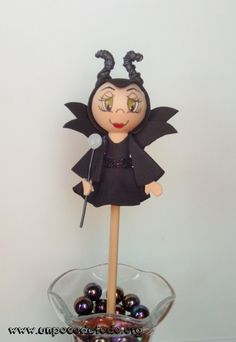 www.unpocodetodo.org - Maleficent pencil fofucha - Pen fofucha - Foamy - crafts - disney - fofulapiz - malefica - maleficent - manualidades - princesas - princess - 2