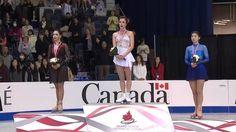 Elizaveta Tuktamysheva(Rurssia), Ashley Wagner(USA) and Yuka Nagai(JAPAN) : Skate Canada 2015