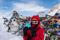 #Booksy on the top of the world Thorong La (Pass) Himalayas, Nepal - 5,416 m (17,769 ft)