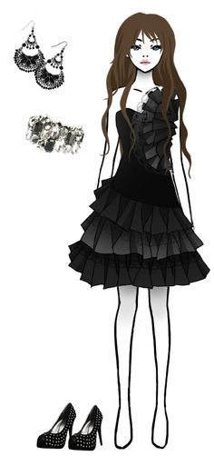 Time for fashion 1 by FallenChibi on DeviantArt Manga Clothes, Anime Dress, Tik Tok, Weapons, Cool Outfits, Goth, Photos, Pictures, Deviantart