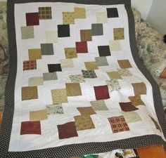 Used embroidery machine to quilt the backing