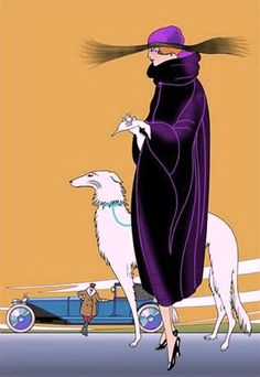z- Borzoi, Art Deco