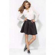 This Ecru Keyhole Long-Sleeve Top by Alore is perfect! Skater Skirt, Midi Skirt, Lingerie, Wholesale Clothing, Look Fashion, Parka, Fashion Forward, Sexy, Long Sleeve Tops