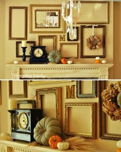 24 Inspiring Thanksgiving DIY Mantle Decoration #fireplace #decoration #DIY #ideas #fall