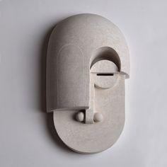 Eric Roinestad's Stunning Bauhaus Ceramics Masks – Trendland Online Magazine Curating the Web since 2006 Ceramic Tableware, Porcelain Ceramics, Ceramic Pottery, Porcelain Tiles, Fine Porcelain, Ceramic Mask, Minimalist Decor, Art Object, African Art