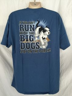 112fc46d5c7f46 BIG DOGS Blue Mens XL large T shirt TRUCKER T Shirt #BigDogs #GraphicTee.
