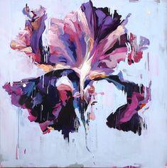 Carmelo Blandino  Naples, Florida 'Violet Iris' Acrylic on canvas