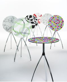 funky tables.
