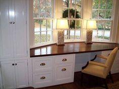 Modern Window Seat, Bay Window Benches, Window Desk, Window Seat Kitchen, Window Seat Storage, Storage Bench Seating, Kitchen Window Treatments, Modern Windows, Window Seats