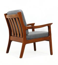 Juul Kristensen; Teak Easy Chair for Glostrup, 1960s.