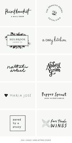 A Year in Review: 2016 Logos — June Letters Studio http://jrstudioweb.com/diseno-grafico/diseno-de-logotipos/