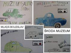 Mladá Boleslav - Škoda Muzeum - plakátek (skupinový úkol) Comics, Cartoons, Comic, Comics And Cartoons, Comic Books, Comic Book, Graphic Novels, Comic Art