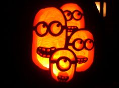 Minions Pumpkin Pattern  to download and make your own