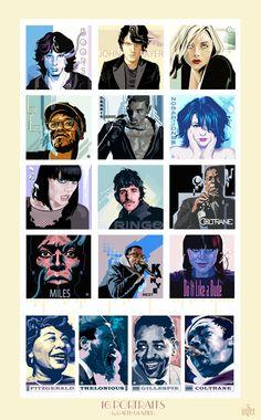 16 PORTRAITS by Garth Glazier on Behance