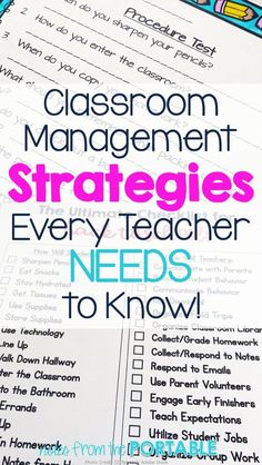 Fabulous classroom management tips! These worked wonders for my classroom.