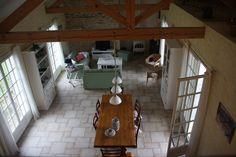 Vakantiehuis in de Lot - Dordogne  Frankrijk. doorkijkje vanuit de mezzanine