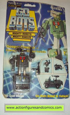 gobots GEEPER CREEPER mr-28 jeep 1985 tonka ban dai toys action figures moc mip mib vintage transformers