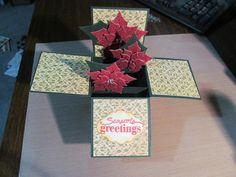 Poinsetta in a box by beechwood - Cards and Paper Crafts at Splitcoaststampers