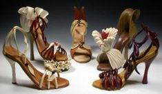 These shoes are sculpted from wood!  The work of Denise Nielsen and George Worthington