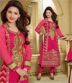 Fabric:- Georgette, shantoon & Nazneen #Bollywood #Suit  Price :- Rs.1530/-  Design No.:- Sb-4307-10006