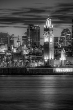 Old Montreal Clock Tower On the Water by Paul Ei, via Flickr