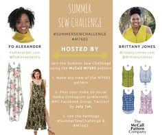 Summer Sew Challenge: Featuring McCalls 7603  http://www.brittanyjjones.com/home/summer-sew-challenge