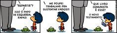Armandinho em Significado de Repartir. #tirinhas #quadrinhos