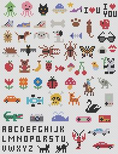 Handicrafts: very small motifs for f . - Handicrafts: very small cross stitch motifs - Tiny Cross Stitch, Cross Stitch Bookmarks, Cross Stitch Borders, Cross Stitch Alphabet, Cross Stitch Animals, Cross Stitch Designs, Cross Stitching, Cross Stitch Embroidery, Embroidery Patterns