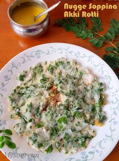Mysoorean: Nugge Soppu Akki Rotti - Rice Flatbread with Drumstick (Moringa) Leaves
