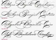 Fancy Cursive Fonts Alphabet For Tattoos Scaninglisfo