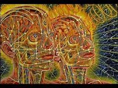 This wonderful painting by Alex Grey accurately shows some of the acupuncture meridians that go around the head and face! Alex Grey, Trance, Opening Your Third Eye, Nova Era, Pineal Gland, Meditation For Beginners, 3rd Eye, Spirit Guides, Third Eye