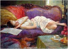 Rest on violet couch (2004)