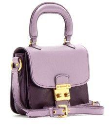 2013 Miu Miu rich lavender and soft violet leather handbag - so pretty!!
