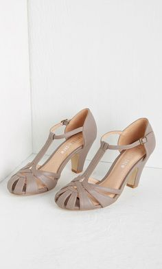 With these deep mauve heels from Chelsea Crew leading the way, elegance surely awaits you. Touting a T-strap and cutout details, these leather-lined pumps make a posh addition to your attire - whatever the occasion! Pretty Shoes, Beautiful Shoes, Cute Shoes, Me Too Shoes, Crazy Shoes, Dream Shoes, New Shoes, 1920s Shoes, Vintage Heels