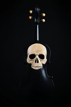 Carved Skull Violin Art Memento Mori Day of the Dead Memento Mori, Violin Art, Violin Music, Instruments, Carving Designs, Skull And Bones, Skeleton Bones, Sculpture, Cello