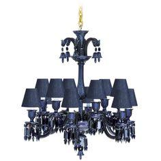 baccarat crystal zenith midnight chandelier baccarat zenith arm black crystal chandelier