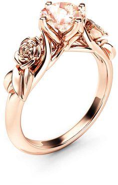 ba96c63955  morganite  solitairerings  engagementrings  rosegoldrings