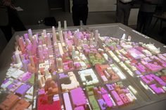 A high-res projection system can overlay images such as future building designs and data such as traffic patterns on the model Printer Stand, 3d Printer, San Francisco Architecture, 3doodler, Future Buildings, Overlays, 3 D, Skyline, Concept