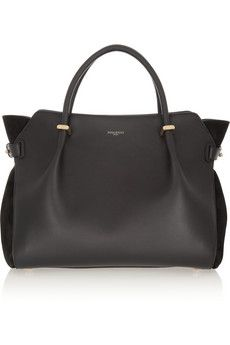 $1,750 Nina Ricci Marché leather and suede tote | NET-A-PORTER