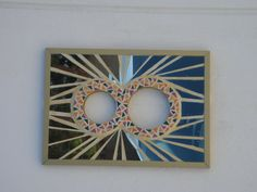 Mirror Mosaic - house number - turns right way up when opened