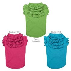 ESC Tiered Ruffle Pet Tee Shirt - Parrot Green > Unbelievable dog item right here! : Dog shirts