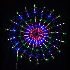 Fuloon 110V 220V Colorful 160 LED Indoor/Outdoor Cobweb Net Spider Web String Light Lamp For Christmas Wedding Party Festival Decoration Led Icicle Lights, Led Curtain Lights, Net Lights, Cluster Lights, Welcome Holidays, Light Chain, Halloween Festival, Christmas Wedding, Halloween Christmas