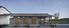 Image 1 of 31 from gallery of Country Shop in Huashu Village / ZHOU Ling Design Studio. Photograph by Hou Bowen - Zhou Ling Nanjing, Country Shop, Traditional Frames, Photo Studio, Facade, Gazebo, Beach House, Architecture Design, Beautiful Pictures