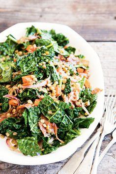 Warm Lentil and Kale Salad