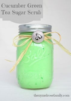 Cucumber Green Tea Sugar Scrub is the perfect gift idea.