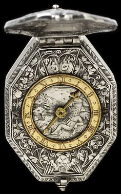 engraved silver watch, signed 'Charles Barras A Bloys'  Blois, France, circa 1615
