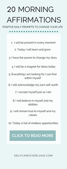20 positive morning affirmations to say daily for self development and improvement to change your life. Start your daily routine with these affirmations that will prompt you to speak gratitude through Daily Positive Affirmations, Positive Affirmations Quotes, Morning Affirmations, Affirmation Quotes, Affirmations Confidence, Love Quotes For Boyfriend, Love Quotes For Him, Gratitude Quotes Thankful, Gratitude Ideas