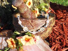 Rose Quartz and Rutilated Quartz Bracelet by LunasMagicks on Etsy