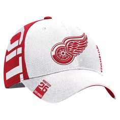 newest 1b4b9 5be58 Youth Detroit Red Wings Reebok White Red 2016 NHL Draft Structured Flex Hat,  Your